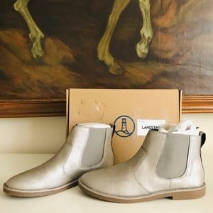 Lands' End Warm Silver Shimmer Booties